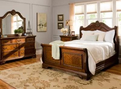 Catalina 4 Pc Queen Bedroom Set Cognac Raymour Amp Flanigan