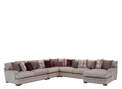 sienna chenille 5 pc sectional sofa