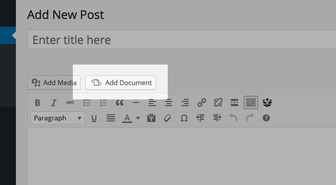 nhúng file tài liệu pdf, word, excel vào WordPress