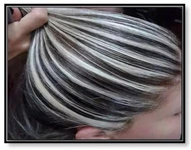 como decolorar cabello negro a gris
