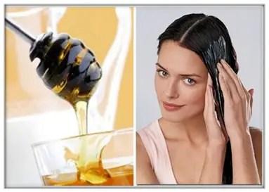 Mascarillas para el cabello rizado con miel