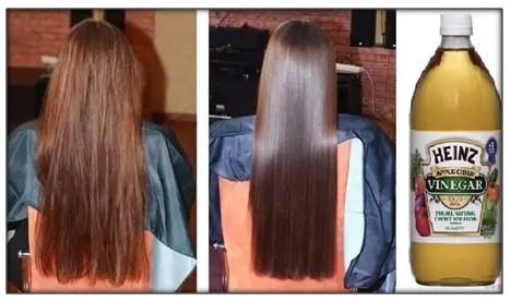 beneficios del vinagre de manzana en el cabello