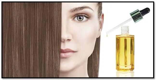 Aceite para alisar el cabello