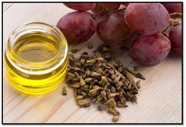 Aceite de uva para el cabello