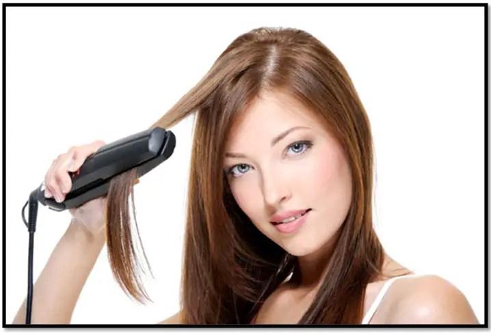 como alisar el cabello con plancha