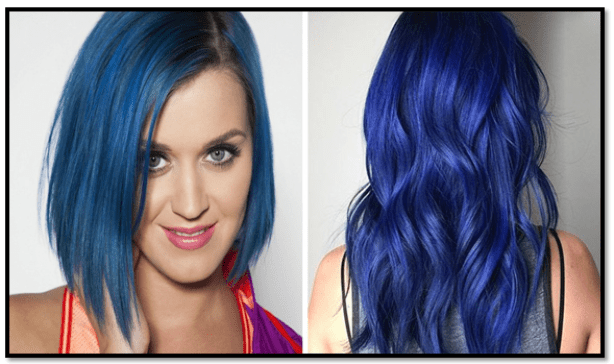 como pintar el cabello con azul de metileno