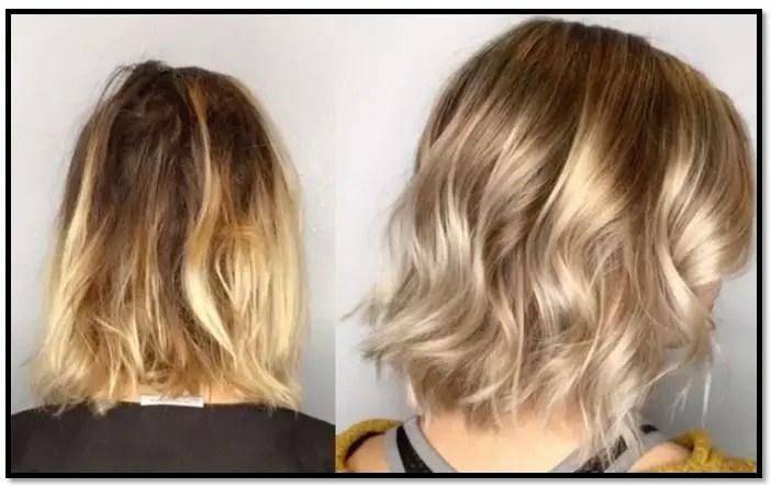 como bajar el tono amarillo del cabello