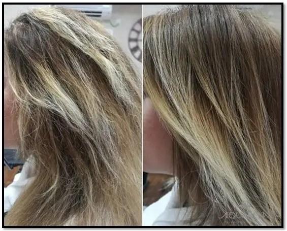 como reparar el cabello quemado por decoloración
