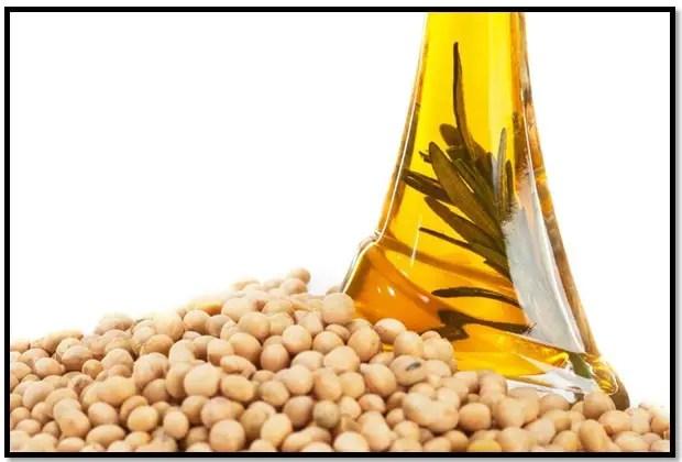 aceite de soya para el cabello