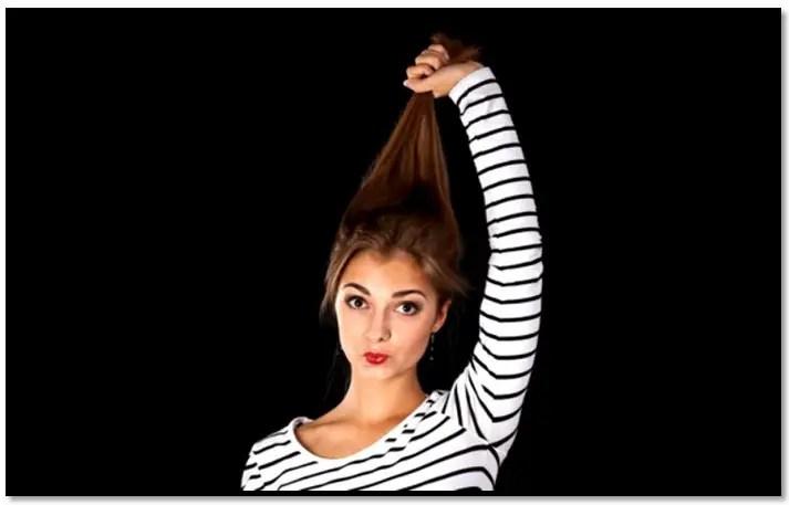 prueba de elasticidad del cabello