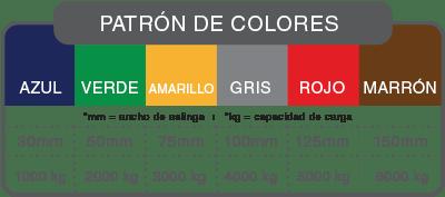 eslingas colores