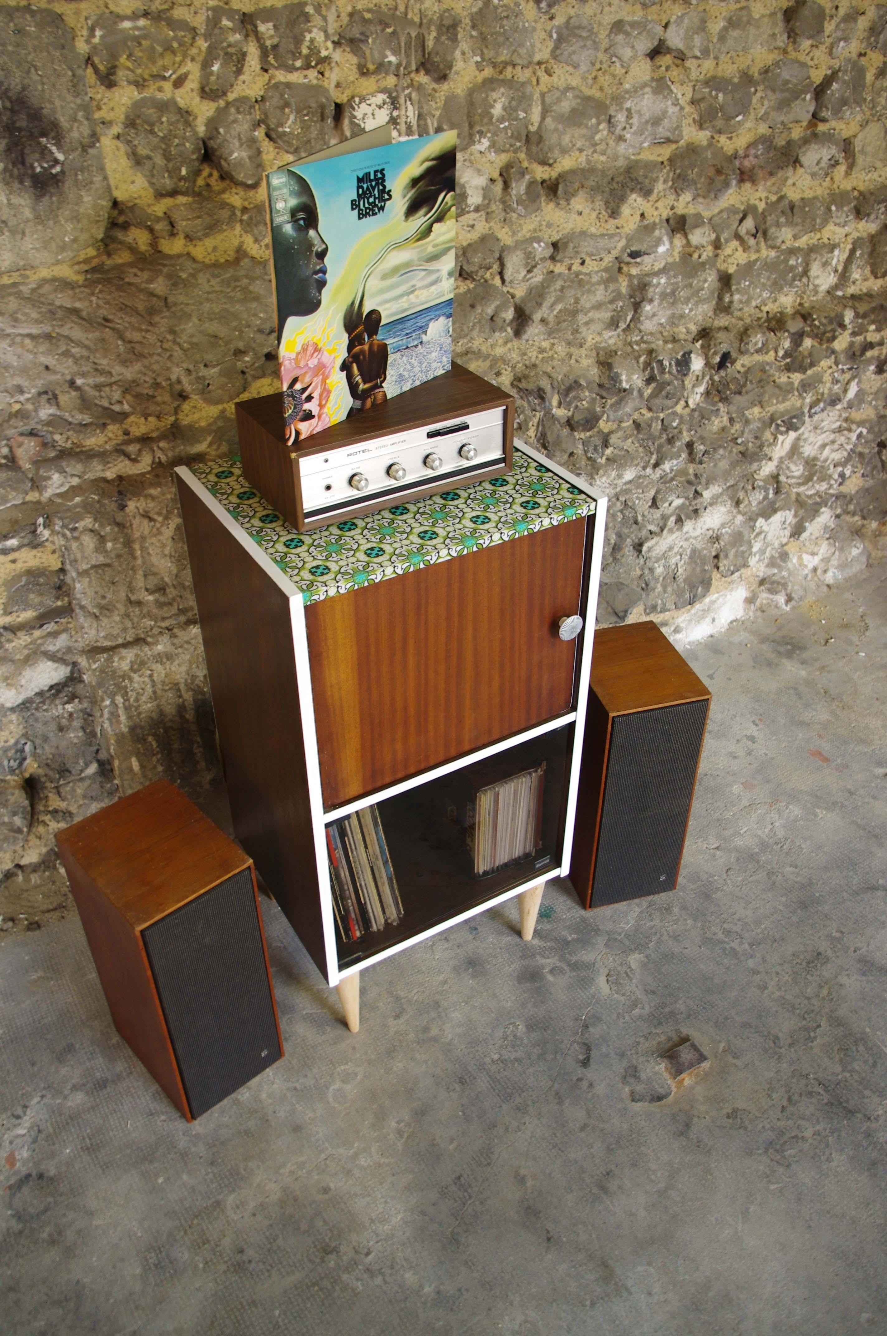 meuble hifi vintage garrard 3 rayre