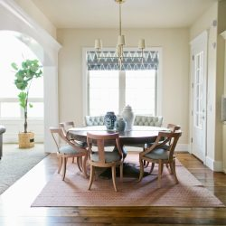 curved settee for round dining table