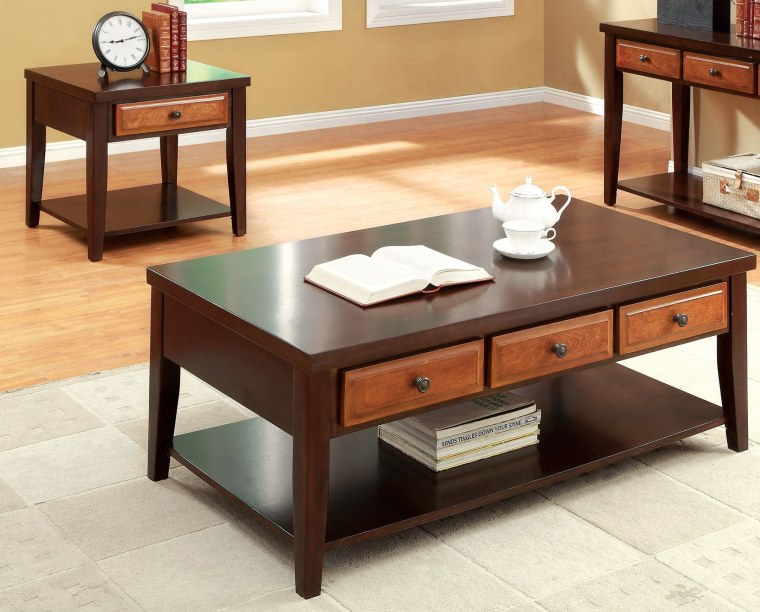 awesome cherry wood coffee table with drawers