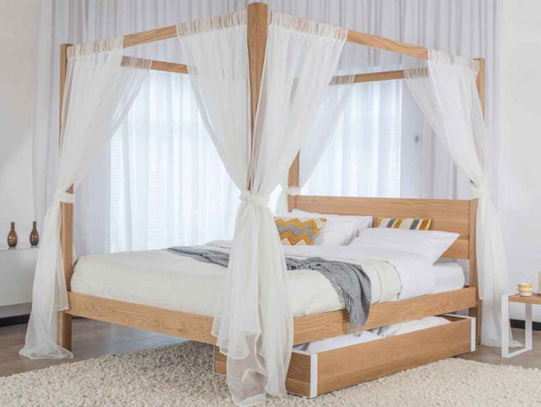Easy Ways to Decorate Four Poster Bed Canopy Curtains for Your Room | Raysa House