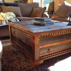 Awesome Large Square Coffee Table Dark Wood