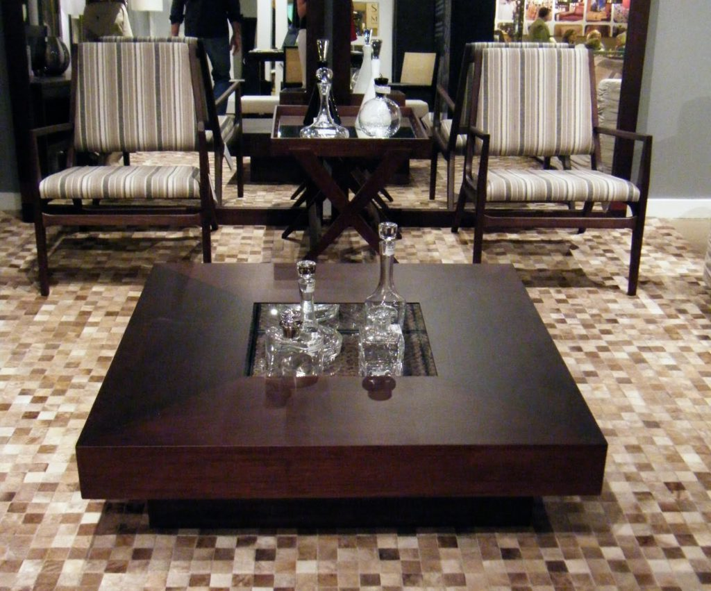 large square coffee table dark wood solid