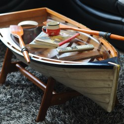 boat wood coffee table glass top ideas