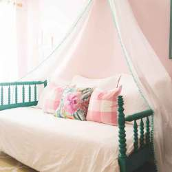 4 Interesting And Cozy Ideas To Make Wall Mounted Bed Canopy   Raysa House