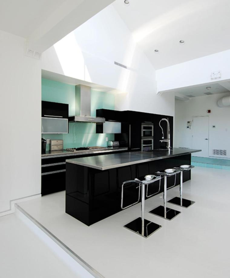 Accent-Colors-For-Black-And-White-Kitchen-kitchen countertop decorative accessories Ideas-with-Accent-Colors-For-Black-And-White-Kitchen