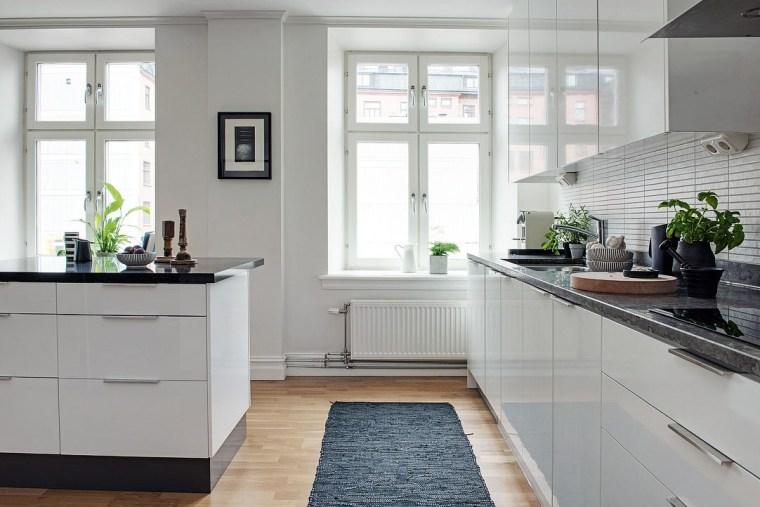 Black-and-White-Modern-Apartment kitchen decor theme ideas