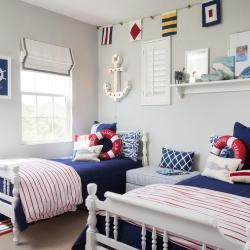 Decorating Themes-sailor-themed-boys-bedroom-lifesaver-pillow-anchor-marquee-flags-garland