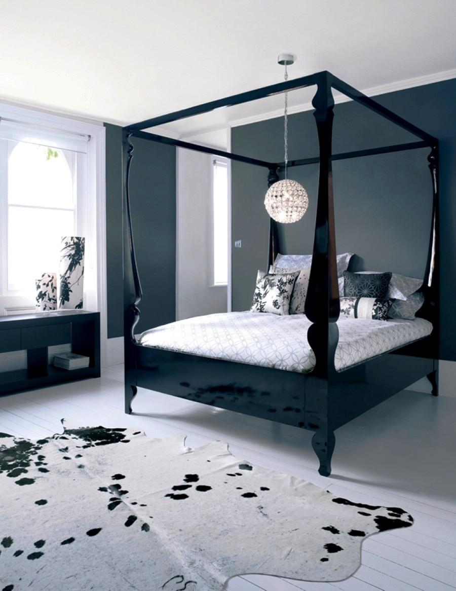 black canopy bed curtains for cozy