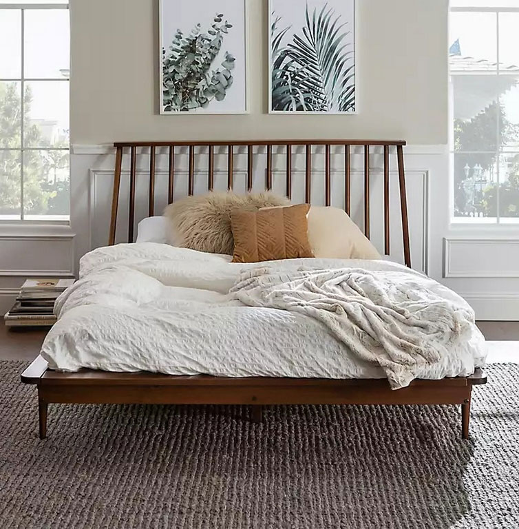 Make Cozy Atmosphere Bedroom by Decorating Mid Century Modern Queen Bed