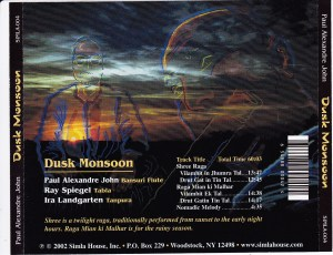 Dusk Monsoon back cover