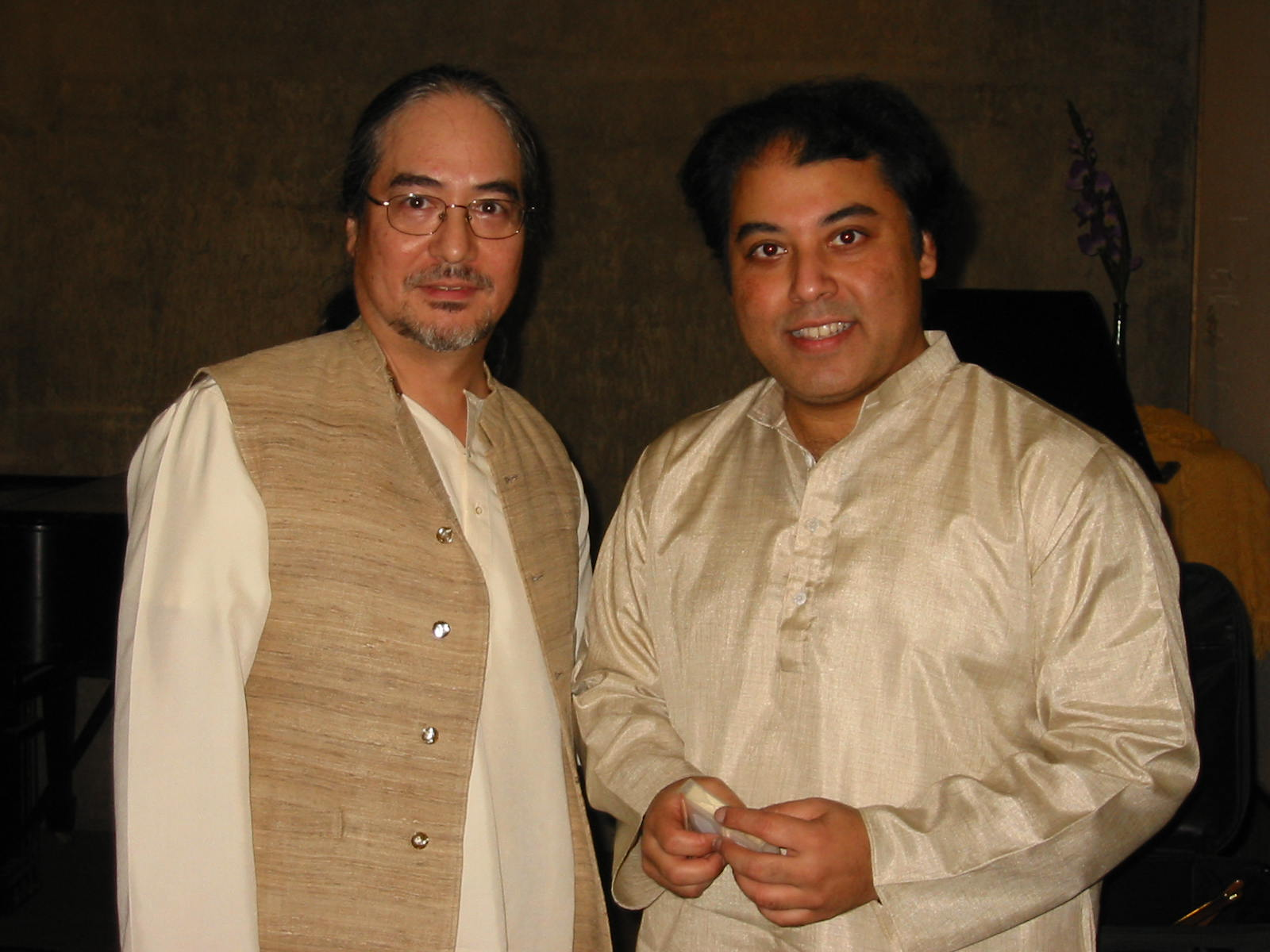 Ray with Ustad Irshad Khan