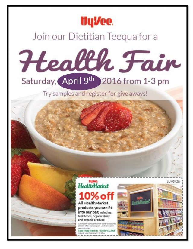Health Fair 2016 front page