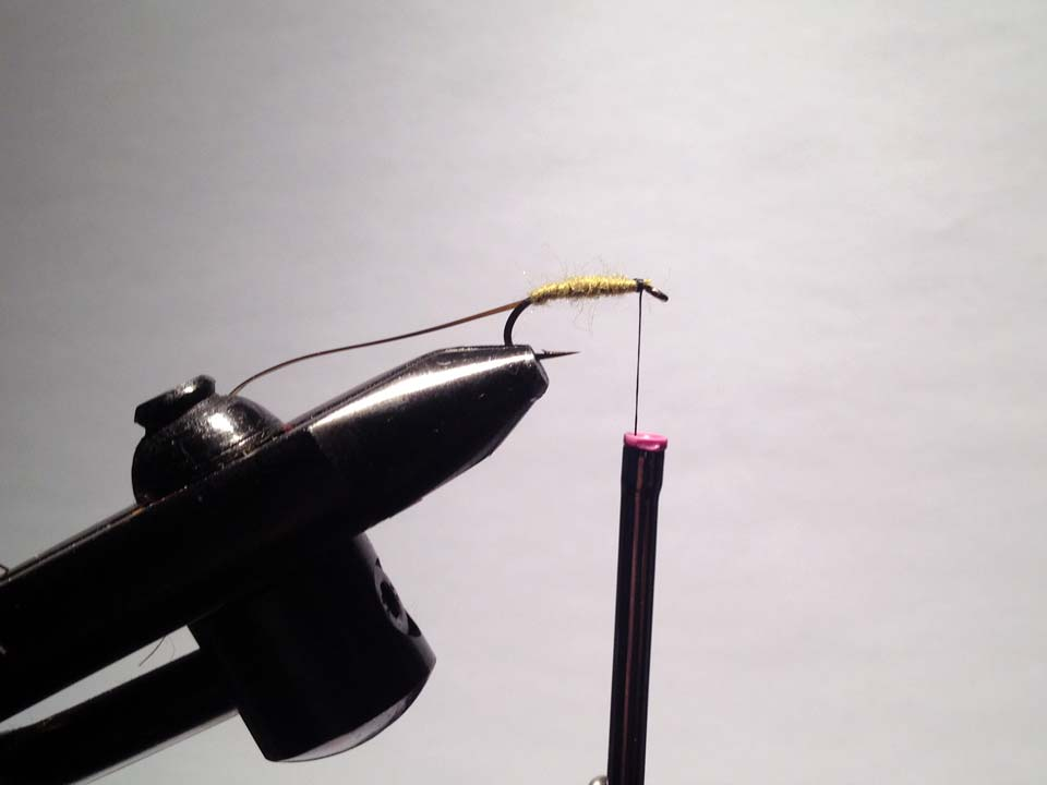 Olive Grizzly Dry Fly Step 8