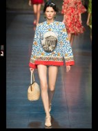 Dolce & Gabbana collection theme roman romanian empire Fashion Week Spring Summer 2014 paris milan london nyc newyork -112