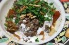 Making Fatet Batinjan Makdous eggplants