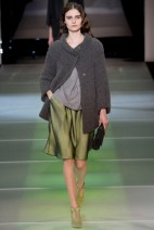 green skirt and grey jacket Earth colors ready to wear