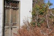 Old antique brown door