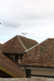 A photo of the brown vintage roofs in solothurn switzerland