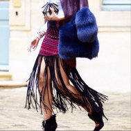 This is heaven 😍 L❤️VE seeing @SofiaGuellaty from @StyleArabia in #Palestine collection skirt snapped by @HarpersBazaarUS in 'Best of haute couture street style'