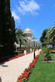 في حدائق البهائيين في خيفا فلسطين المحتلة اسرائيل