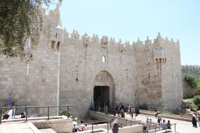 Bab al amood the gate of Damascus in Jerusalem - باب العمود في القدس