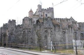 castle, ghent, architecture