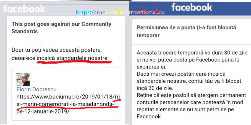 Florin Dobrescu - Cenzura pe FaceBook, s-a trecut la interzicerea unor articole de știri