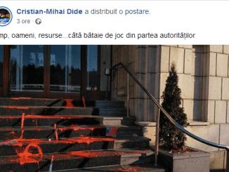 ScreenShot 20190114230934 - Vopsea Roșie, simbol al mișcării anarhiste, la București
