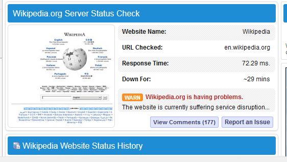Probleme cu Wikipedia.org