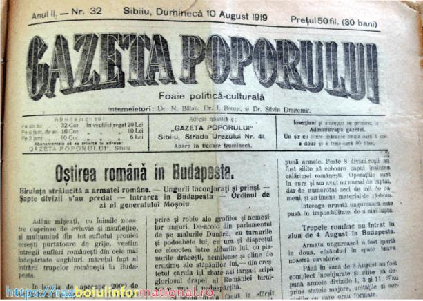 gazeta poporului - Budapesta