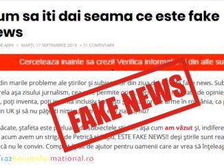 POVESTEA Fake News