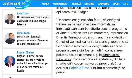 Antena 3 in actiune 300x178 - Primăria Capitalei atacă dreptul de proprietate asupră maşinilor în Bucureşti