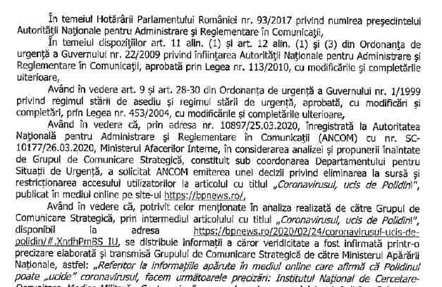 Justificare ANCOM 300x195 - S-a încheiat Starea de Urgenţă, se redeschid toate siturile, anunţă ANCOM - o scurtă analiză