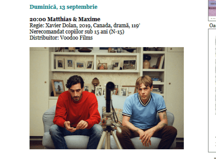 """ScreenShot 20200913062301 300x221 - La Muzeul """"Ţăranului Român"""" se va difuza filmul scârbos de propagandă sexo-marxistă Matthias & Maxime"""