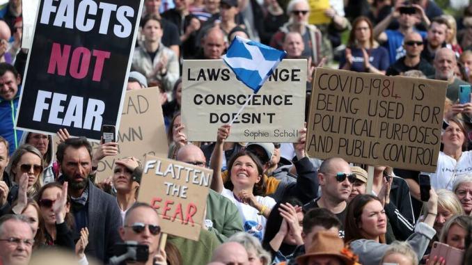 Proteste impotriva Carantinării